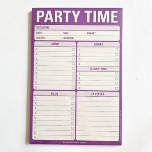 Knock Knock Office - NWT Knock Knock Purple Party Time Note Pad
